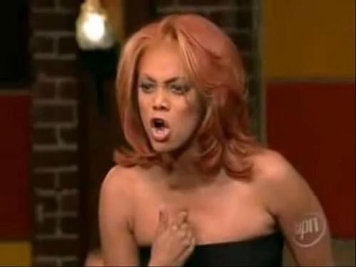 "TV Timeout: Tyra yells at Tiffany I have an unabashed love of America's Next Top Model. I might be what  you call an ANTMologist, no seriously, if someone at a local University  wants to hire me to teach a course on ANTM I swear I'll make it  educational. This current season of America's Next Top Model (season  premiere aired on 9/14) is an All-Stars version, one of those current  popular reality television schticks. I have been waiting for this to  happen for so long now and I'm actually surprised that it took Tyra so  long to get on this game. Tyra brought 14 of the most popular  non-winning models (she forgot a few, trust me) to compete. I was  thinking about who she brought back, which led me to think of my  favorite photo shoots, my favorite quotes (yes, there are many), and  then to my all time favorite America's Next Top Model moment. Way  back in 2005 after a surprise double elimination (she sent Rebecca and  Tiffany home), Tyra became very upset with Tiffany for not taking the  competition seriously enough and joking and laughing as she said her  goodbyes to the other girls. She called the eliminated girls back so  that she ""just want to say one more thing"" to them, Tyra launched into a  lengthy explosive tirade against Tiffany, a former Top Model 3  semifinalist who had made it to the finals of the show's fourth season.  Here's a full excerpt of Tyra's rant.  Do you think this is too much for a quote tattoo? ""I  have never in my life yelled at a girl like this. When my mother yells  like this it's because she loves me. I was rooting for you, we were all  rooting for you! How dare you! Learn something from this! When you go to  bed at night, you lay there and you take responsibility for yourself,  because nobody's going to take responsibility for you. You rolling your  eyes and you act like it's because you've heard it all before—you've  heard it all before—you don't know where the hell I come from, you have  no idea what I've been through. But I'm not a victim; I grow from it and  I learn. Take responsibility for yourself."""