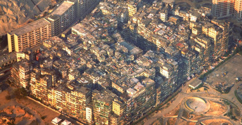 thereoworld:The densest place in the world.architizer:Kowloon Walled City, an inspiration for videogame architecture.