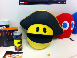 Take heed ye scurvy landlubbers, It's Pirate PAC-MAN's favorite holiday, Talk like a pirate day!