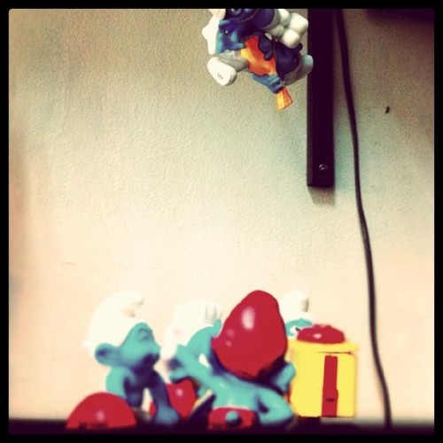 """Brainy! Watch out!"" said #papasmurf  (Taken with instagram)"