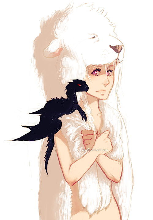 phantomilee:  I wonder if Dany's going to wear the white lion pelt in the show since they didn't make her bald like in the books…