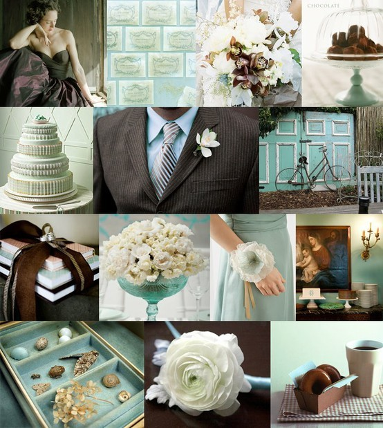 Tiffany Blue & Chocolate Themed Wedding