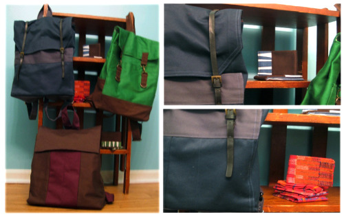 A better picture of my new backpacks and wallets. The wallets are all available on my etsy: http://www.etsy.com/shop/RefineFashion.