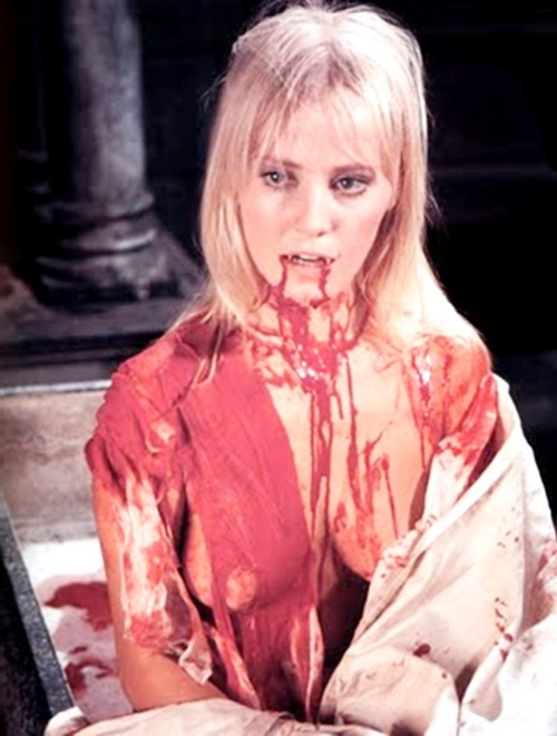 Actress Yutte Stensgaard in Lust for a Vampire (1971) loosely based  on J. Sheridan Le Fanu novella Carmilla
