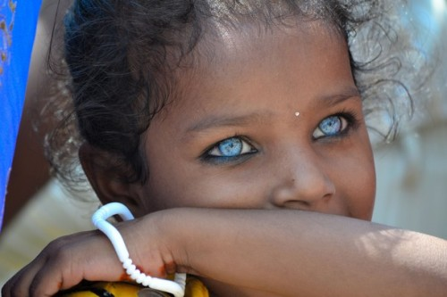 only 7 people in the world have this skin tone and eye colour! <3