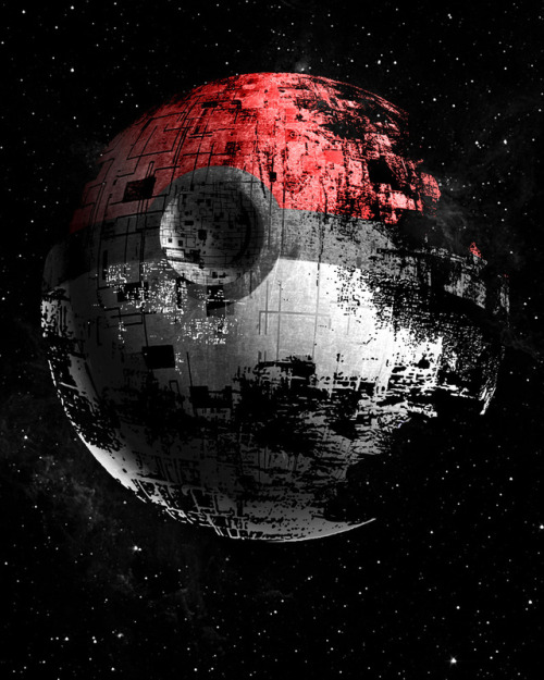 "justinrampage:  The worlds of Pokemon and Star Wars collide in Iam Zerobriant's hilarious ""3D"" mash up design. Available as prints, skins and cases on Society6. Poked to Death 3D by Iam Zerobriant (Tumblr) (Facebook) (Twitter)"