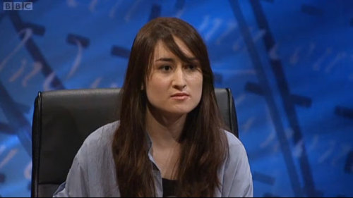 universitychallengebabes:  Leeds Bennett  This is my friend Lucy, she was on University Challenge tonight playing for Leeds Uni, they won. It was amazing.