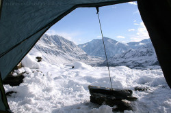 A view from the tent, winter trekking, Hindukush by imranthetrekker (chitralguy) ready for adventure on Flickr.