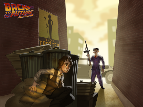 ilovemyrats:  Back to the Future the game <3 Written by Michael Stemmle and Andy Hartzell Designed by Michael Stemmle, Andy Hartzell, Dave Grossman, Jonathan Straw Opening arts for every 5 parts of this fantastic game! I paid a lot for them but I don't regret it! It was a great/awesome/mind-blowing/badass adventure! BTTF FOREVER!