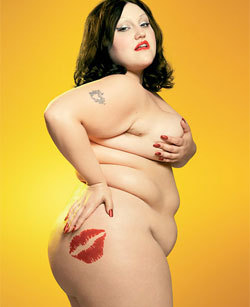 "Beth ditto proud with her figure, and with her sexual orientation, if someone don't know who is,is the singer of band called "" the gossip"", she's the besttttt"