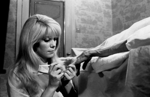 eclecticpool:  Movies you may have missed #4 :   REPULSION http://www.imdb.com/title/tt0059646/ A trailer    http://www.dailymotion.com/video/x85hnz_trailer-repulsion-1965-roman-polans_shortfilms Not about sex but fear of sex, Roman Polanski's early masterpiece will get inside you if you let it. Catherine Deneuve is amazing. If you ever get a chance to see this on a big screen……highly recommended .
