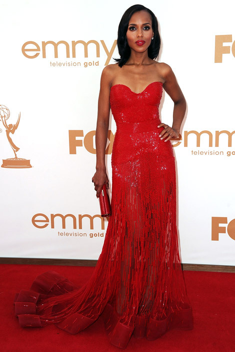 chelebelleslair:  Kerry Washington wore a Zuhair Murad gown to the 2011 Emmy Awards.