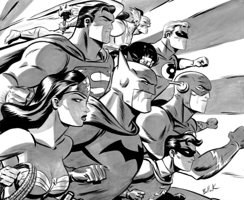 comicartappreciation:  JLA // Dave Bullock