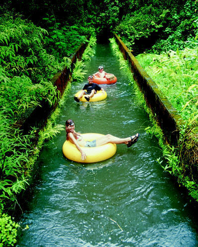 Tubing Canals, Kauai, Hawaii  photo via bryansander