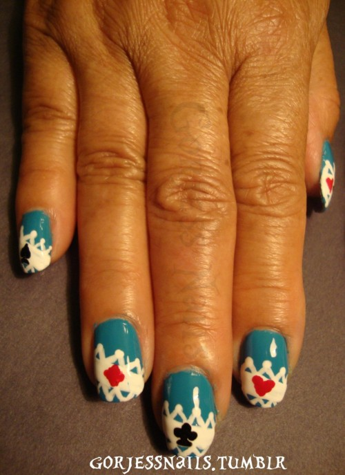 Alice in Wonderland inspired nails..