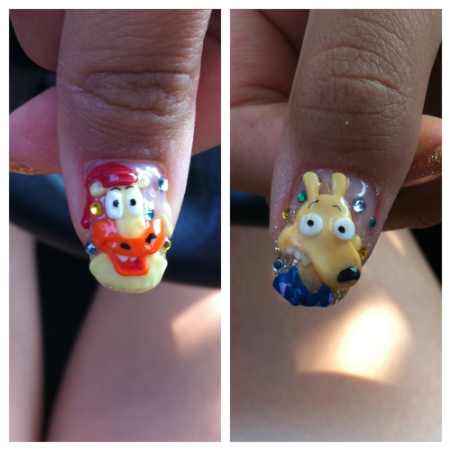 My Rocko's Modern Life nails! :D