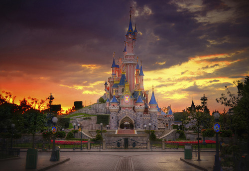 A Disneyland Paris Sunset by William McIntosh