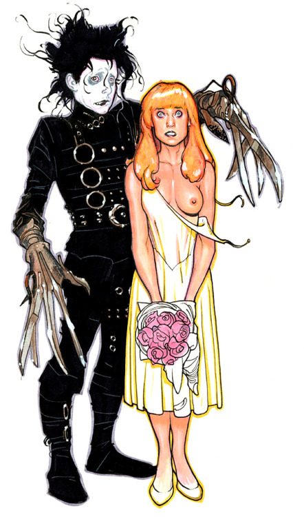 theartofanimation:  Adam Hughes, Edward Scissorhands  lol