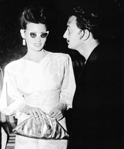 Gloria Vanderbilt and Salvador Dali at his Surrealist Ball in 1941.