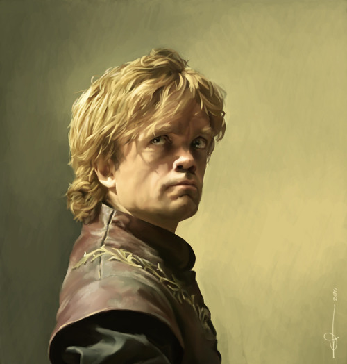 atraeathing:  Tyrion by *euclase Ffffffffffcuk me sideways that's amazing.  Wait, you mean that's not a photograph? Huh.