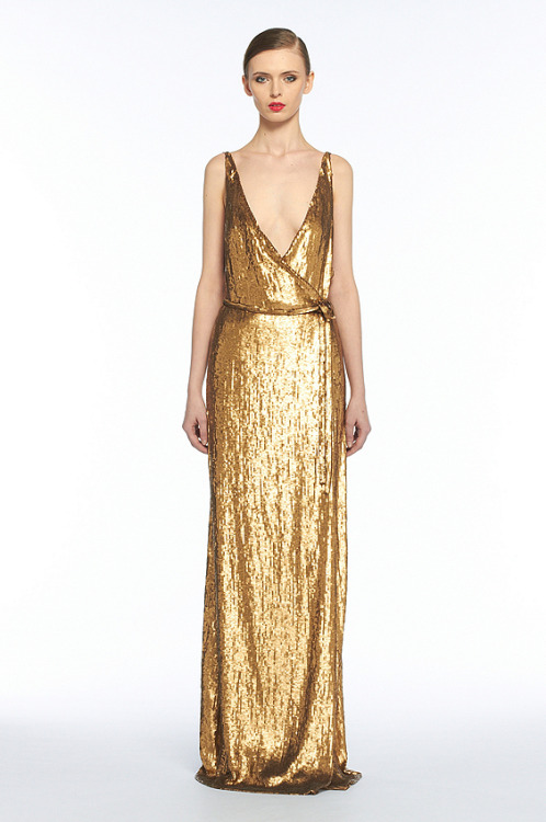 gold! dvf clarice dress