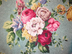 Vintage Fabric ~ Bouquets on Jadeite by Niesz Vintage Fabric on Flickr.
