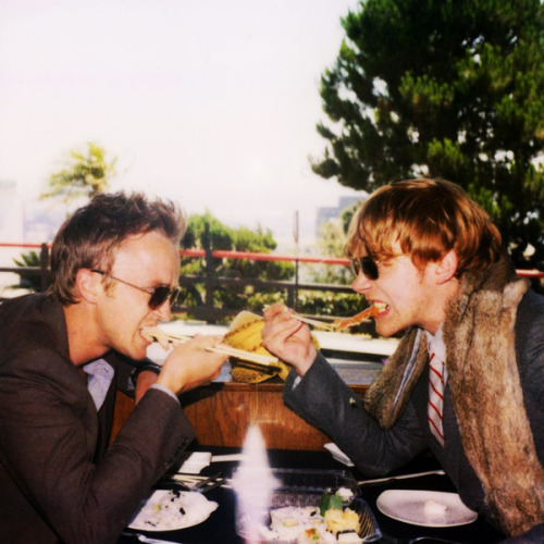Rupert and Tom for Band of Outsiders, photo shoot outtakes