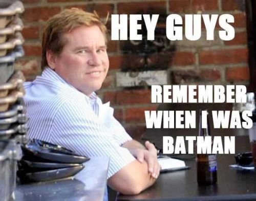 sirmitchell:  he's allergic to bees, guys.  fat val kilmer