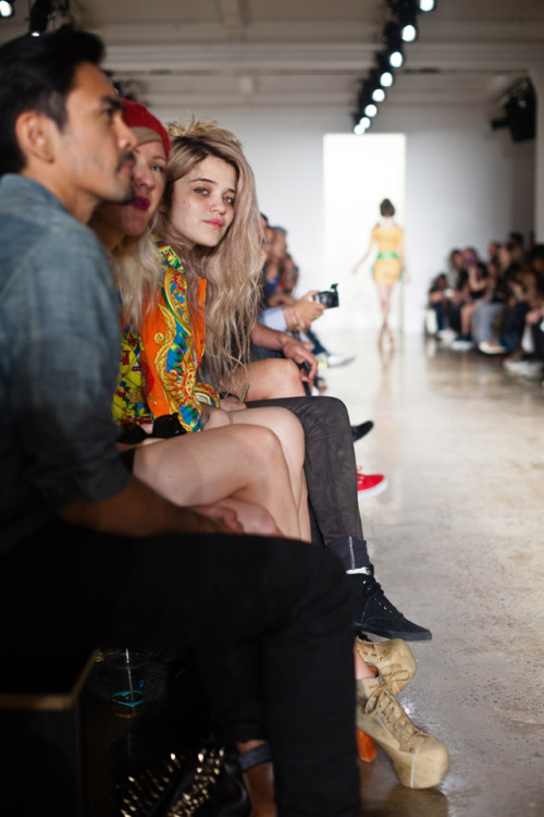 front row @ Jeremy Scott Spring 2012