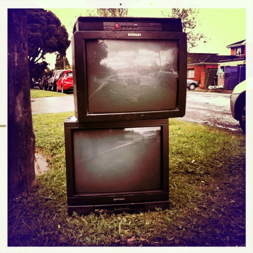 What's on TV? John S Lens, Alfred Infrared Film, No Flash, Taken with Hipstamatic