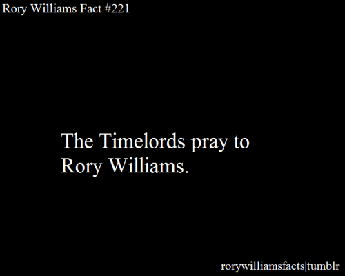 rorywilliamsfacts:  Submitted by theboywhoran.