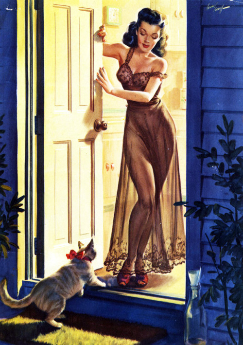 vintagegal:  art by Freeman Elliott 1950's