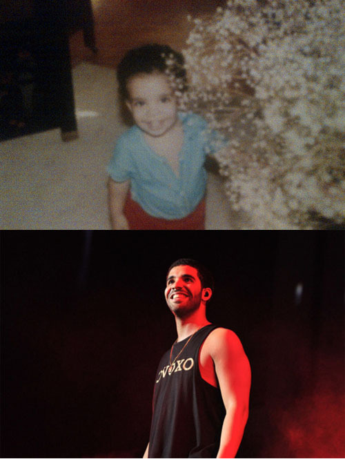 drizzyfuckingdrake:  Then and Now.  Still has that same smile.