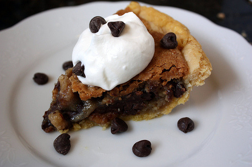 If you like Toll House cookies, your going to love Toll House Pie :)