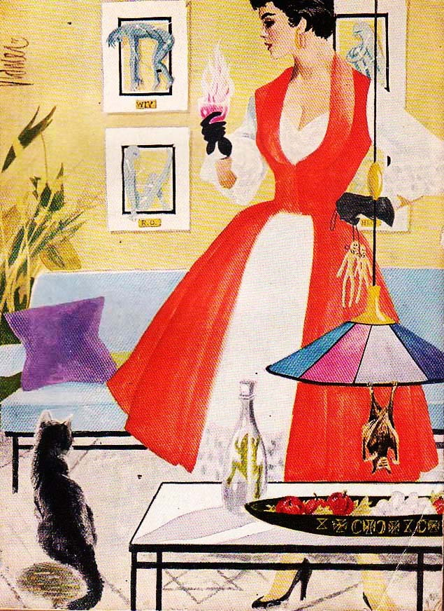 vintagegal:  Mid-Century modern Witch 1954