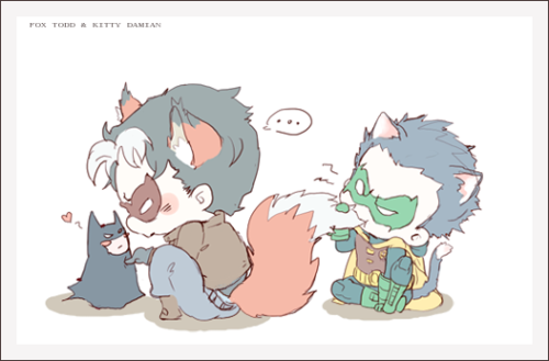 oooooodd14:  fox todd and kitten damian! <3 inspired by my awesome friends seikuya and himeko  ´▽`