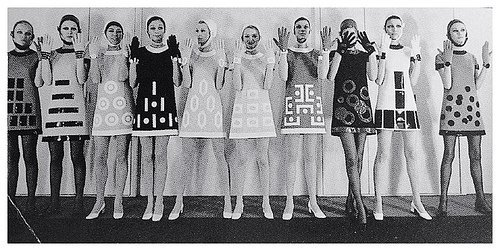 theswingingsixties:    '60s space age fashion by Pierre Cardin.