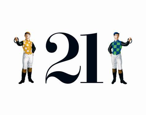 "21's logo, featuring 2 ""Lawn Jocks"""