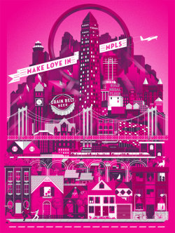 weandthecolor:  Make Love In MPLS by Lucas Richards. More graphic design inspiration. posted byW.A.T.C. // Facebook // Twitter // Google+