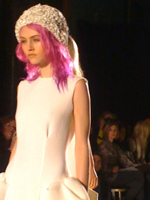 Roksanda Ilinic, love the beanie and the pink hair Jo Jones..