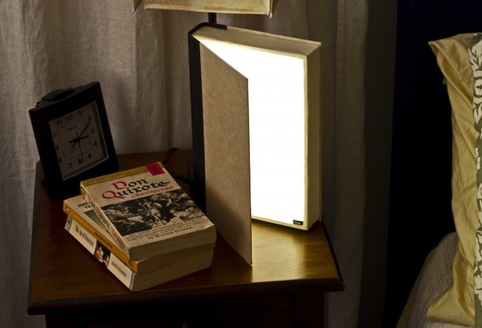 Book Book Light | Grathio Labs Do I love this? Yes. Yes I do. Do I think I could make this? No. No I don't. Do I think I could convince my Dad to make one of these for me? Um, maybe?!