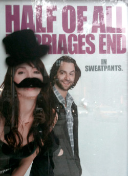 half of all marriages end in moustaches. nyc submitted by lovefight