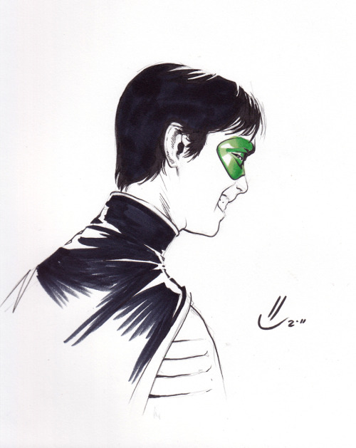 Tim Drake Robin by Marco Rudy. Sketch from Montreal Comic Con 2011 (via Irrelevant Comics)