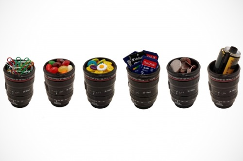 delgrosso:  Canon lens shotglasses. $18 for a set of three at the Photojojo store.