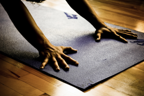 fuckyeahashtangayoga:  a detail often overlooked - pressing the hands down firmly into the mat can really change your down dog. spread the fingers wide, hands about shoulder distance apart. alignment will improve throughout the body and you'll be gaining strength!
