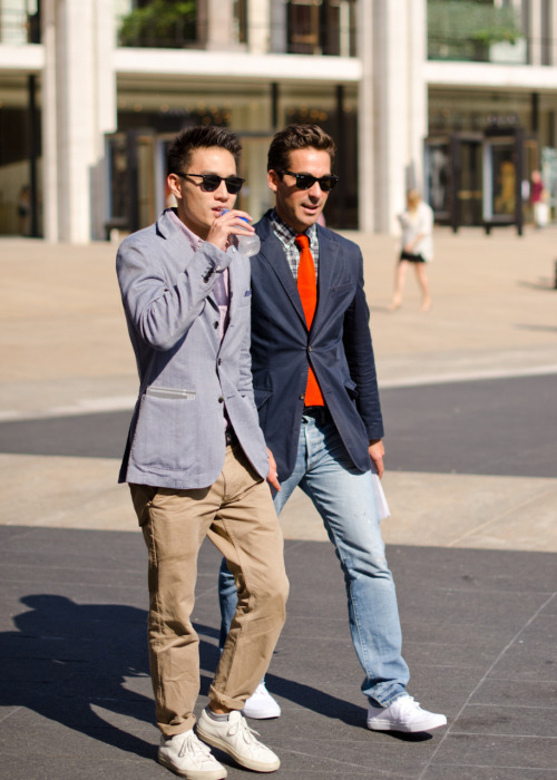 meninthistown:  Preppy outside Lincoln Centre.