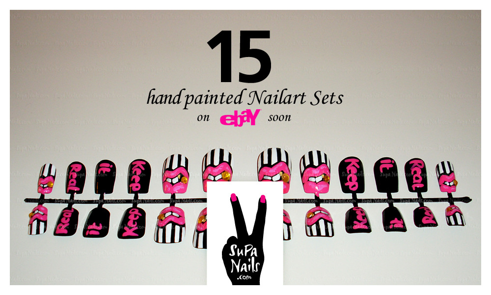+95 Lovers = 15 hand painted Nail Art Sets on Ebay soon!  we just need 95 more Followers on Tumblr then the limited sets will go live on eBay! Follow Supa Nails on Tumblr supanails.tumblr.com NOW!