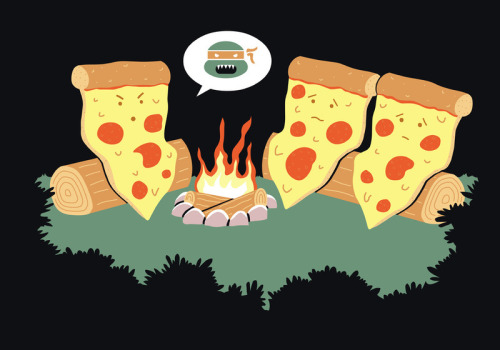 urhajos:  'Campfire Tales Of A Pepperoni Pizza' by Teo Zirinis