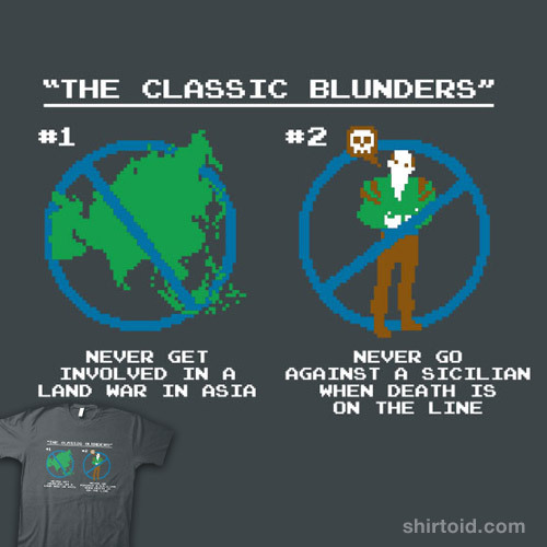 The Classic Blunders available at SnorgTees