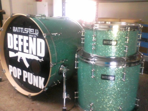 Thank you to our buds over at www.battlefielddrums.com for this sweet new kit we will be premiering on the Pop Punks Not Dead Tour with New Found Glory, Set Your Goals, The Wonder Years and This Time Next Year. Who will be seeing at a PPNDT show?